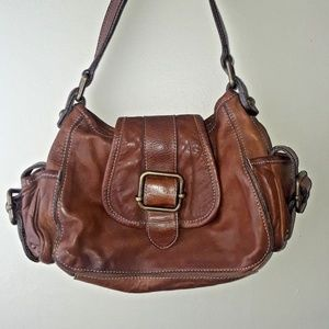 Banana Republic Brown Classic Leather Doctor Purse